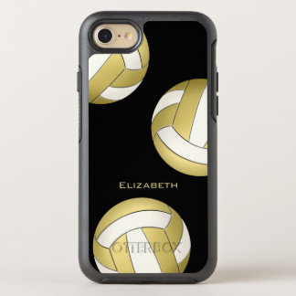 gold white women's volleyball OtterBox symmetry iPhone 8/7 case