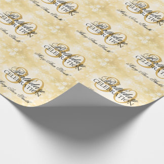 Gold Winter Wonderland 30th Birthday Party Wrapping Paper