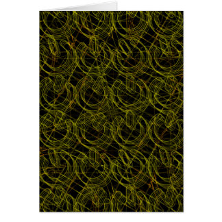Gold Wire Mesh 3D Power Symbols Greeting Card