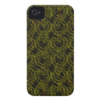 Gold Wire Mesh 3D Power Symbols Case-Mate iPhone 4 Cases