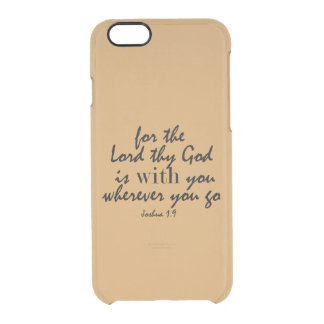 Gold with Bible Verse iPhone 6 Plus Case