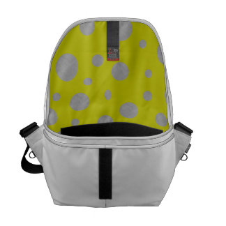 Gold with Silver Polka Dots Messenger Bag