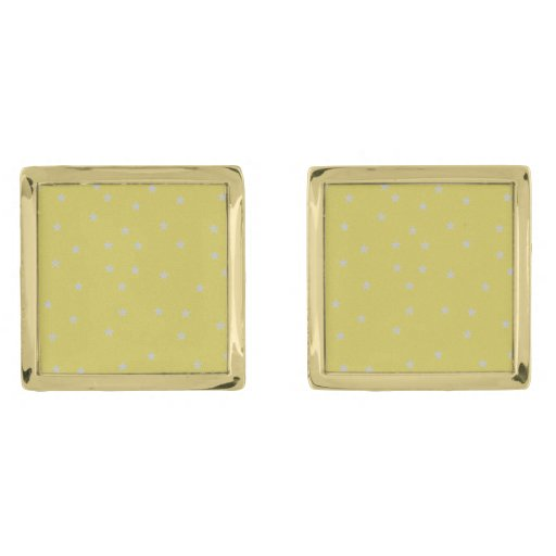 Gold With Silver Stars Cufflinks