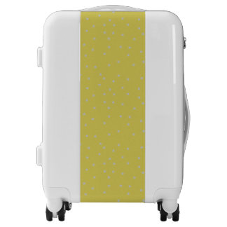 Gold With Silver Stars Luggage