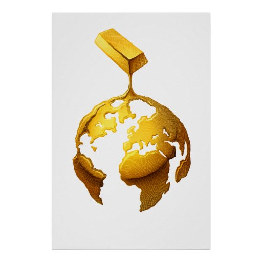 Gold World Print