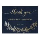 Gold wreath Thank You Card