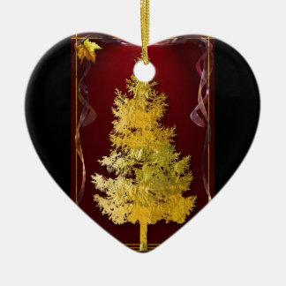 Gold Xmas Tree 1 Christmas Ornament
