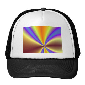 Gold, Yellow, Blue and Purple Abstract Light Trucker Hats