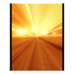 Gold Yellow Orange Abstract Zoom Blur 11.5 Cm X 14 Cm Flyer