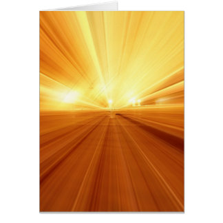 Gold Yellow Orange Abstract Zoom Blur Greeting Card