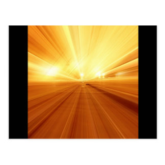 Gold Yellow Orange Abstract Zoom Blur Postcard