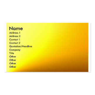 Gold-Yellow Plain Profile Card Business Card Template