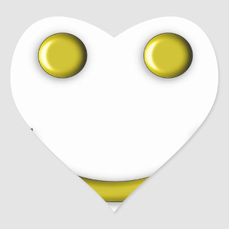 Gold Yellow Smiley Smiling Face Emoji Funny Heart Sticker
