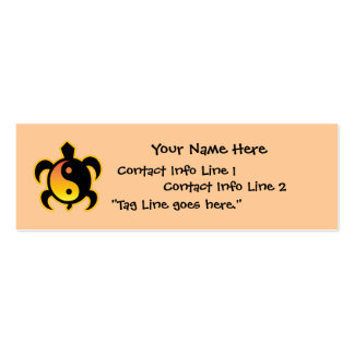 Gold Yin Yang Turtle Profile Card Pack Of Skinny Business Cards
