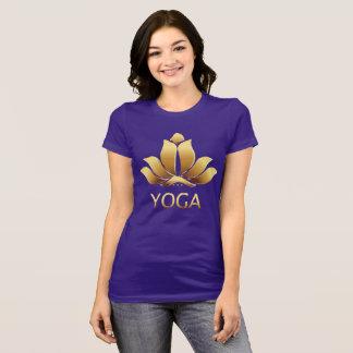 Gold Yoga Lotus Pose T-Shirt