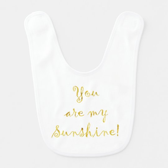 Gold You Are My Sunshine Quote Faux Foil
