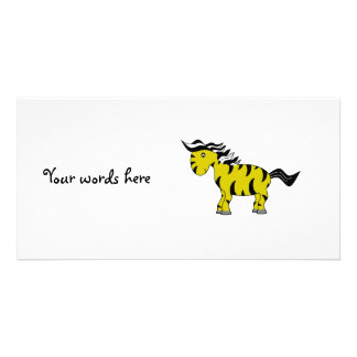 Gold zebra customised photo card