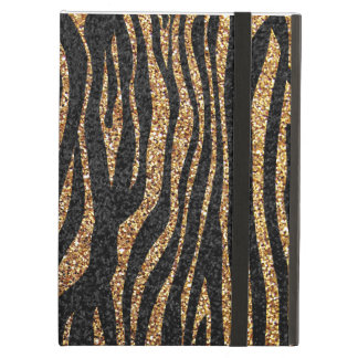 Gold zebra stripe pattern (faux glitter bling) cover for iPad air