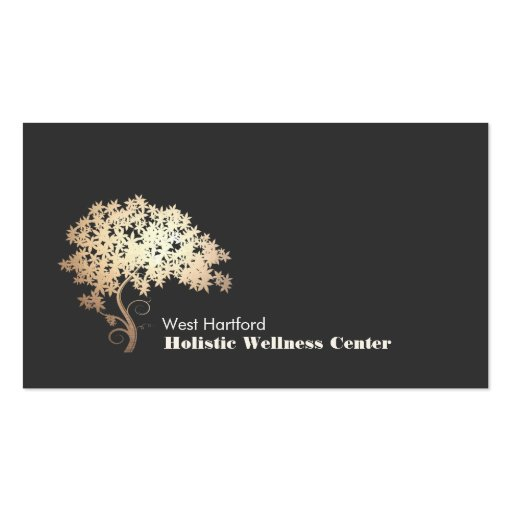 Gold Zen Tree Holistic and Alternative Health Business Cards