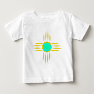 Gold Zia Sun Symbol Baby T-Shirt