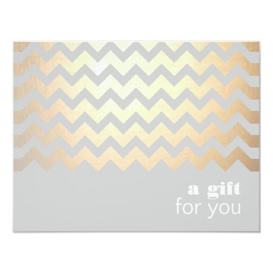 Gold Zig Zag Pattern and Grey Gift Certificate