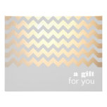 Gold Zig Zag Pattern and Grey Gift Certificate Invite