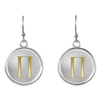 Gold Zodiac Sign Gemini On Silver Earrings