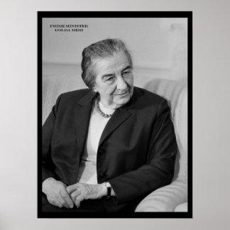 Golda Meir, Israeli Prime Minister Poster