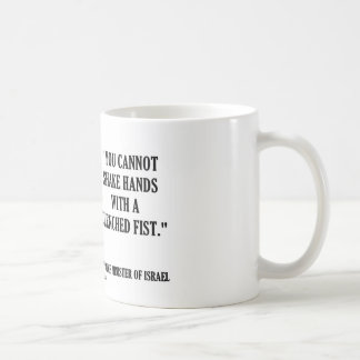 Golda Meir You Cannot Shake Hands Clenched Fist Coffee Mug