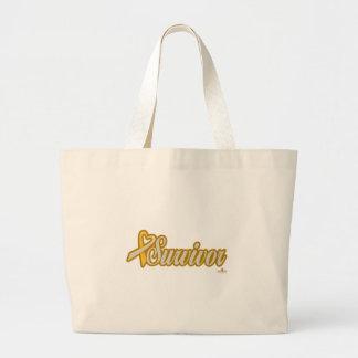GoldAndSilverHeartRibbonSurvivor Bags