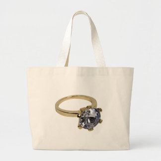 GoldDiamondRing112409 Large Tote Bag