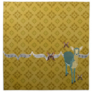 Golddust Fawn & Butterfly American MoJo Napkin