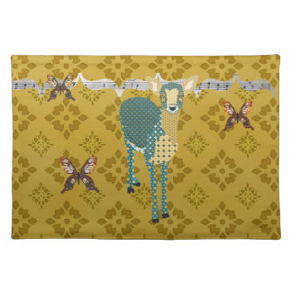 Golddust Fawn & Butterfly American MoJo Placemat