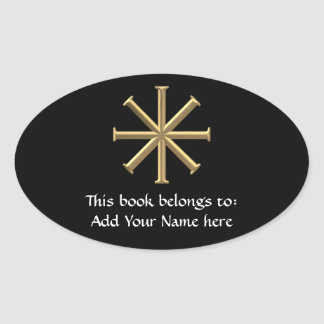 "Golden ""3-D"" Baptismal Cross Stickers"