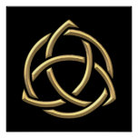 "Golden ""3-D"" Holy Trinity Symbol 2 Poster"