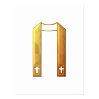 "Golden ""3-D"" Liturgical Stole Postcard"
