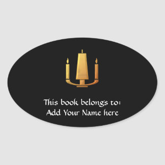 "Golden ""3-D"" Unity Candle Sticker"