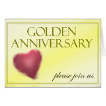 Golden 50 Year Anniversary Invitation Cards