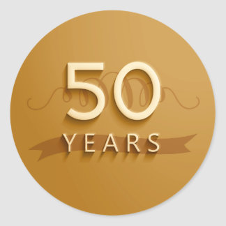 Golden 50 Years Stickers
