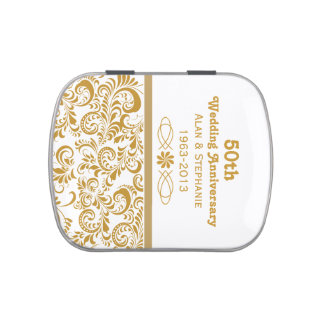 Wedding Anniversary Sweet Tins Wedding Anniversary Jelly Belly Tin With Jelly Beans Mints