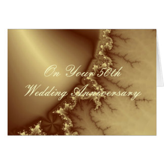 Golden 50th Wedding Anniversary Greeting Card