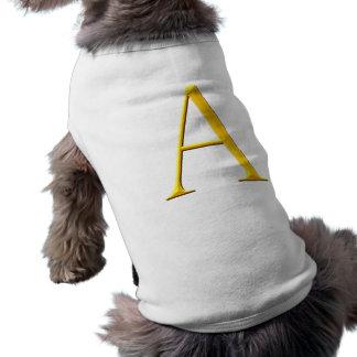 Golden A Monogram Sleeveless Dog Shirt