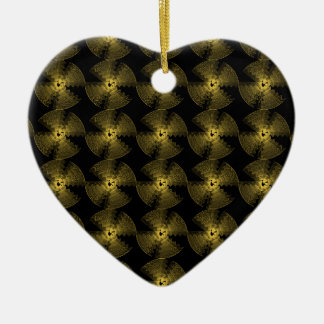 GOLDEN ABSTRACT CERAMIC HEART DECORATION