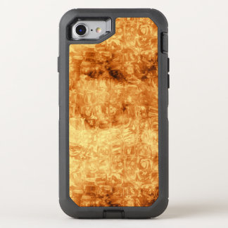 Golden Abstract Daisy Pattern OtterBox Defender iPhone 8/7 Case