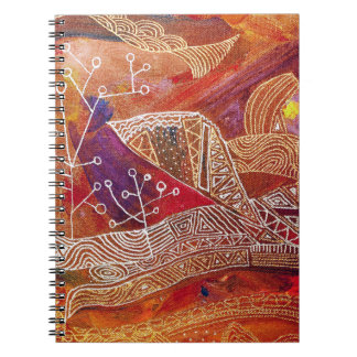 golden abstract notebook