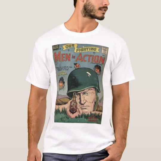 Golden Age Comic Art - Men in Action T-Shirt
