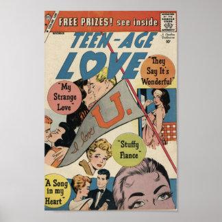 Golden Age Comic Art - Teenage Love Poster