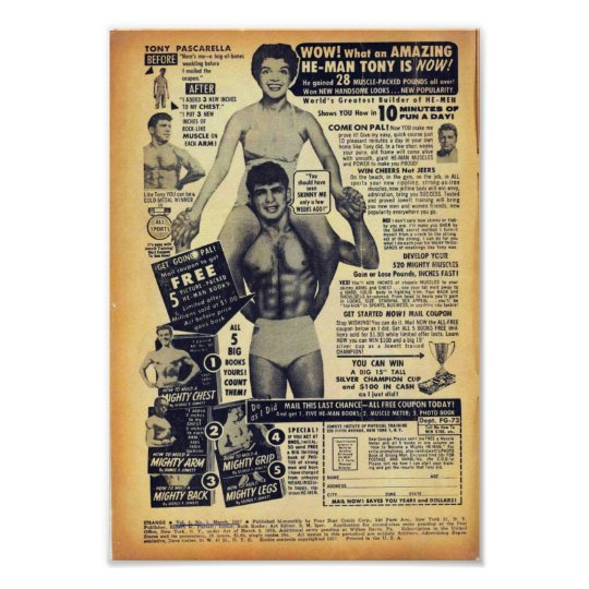 Golden Age Comic Art - Vintage Bodybuilding Advert