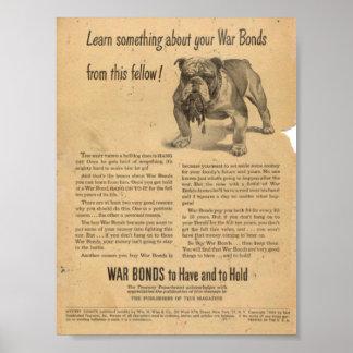 Golden Age Comic Art - War Bonds Advert Poster