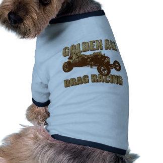 golden age drag racing altered wheel base pet tee shirt